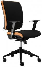 židle LARA VIP E-SYNCHRO šedo-oranžová, SLEVA 633S kancelárská stolička