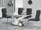 stůl Sandor 2 160-220x90x75 sklo černé