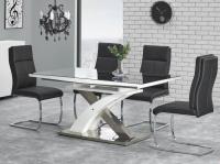 stôl Sandor 2 160-220x90x75 sklo čierne