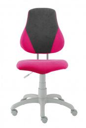 detská rastuca stolička FUXO V-lineruzovo-siva