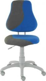 dětská židle FUXO S-line modro-šedá kancelárská stolička