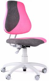 detská stolička FUXO S-line ruzovo-sivá