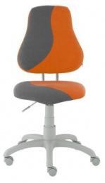 detská stolička FUXO S-line oranžovo-sivá