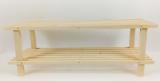 dřevěný stojan na obuv