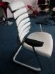 jednací židle FISH BONES MEETING šedý plast bílá koženka PU480329 kancelárská stolička