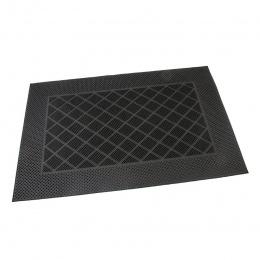 Gumová čistící kartáčová venkovní vstupní rohož Squares - Rectangle 60 x 40 cm
