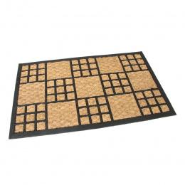 Gumová kokosová čistiaca vonkajšia vstupná rohož Square Mix 75x45