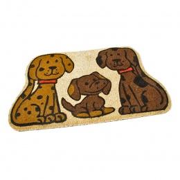 Kokosová čistící venkovní vstupní rohož Happy Dogs 75x45