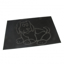Gumová čistiaca kefová vonkajšia vstupná rohož Dog 60 x 40 cm