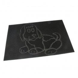 Gumová čistící kartáčová venkovní vstupní rohož Dog 60 x 40 cm
