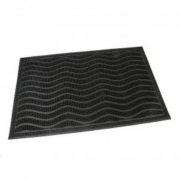 Gumová čistiaca kefová vonkajšia vstupná rohož Waves 60 x 40 cm