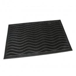 Gumová čistící kartáčová venkovní vstupní rohož Waves60 x 40 cm