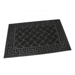 Gumová čistící kartáčová venkovní vstupní rohož Rectangles - Deco 60x40
