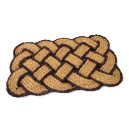 Kokosová čistící venkovní vstupní rohož Jumbo Rectangle Brown 75x45 cm