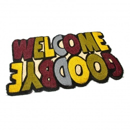 Kokosová čistící venkovní vstupní rohož Welcome - Goodbye 75x45 cm