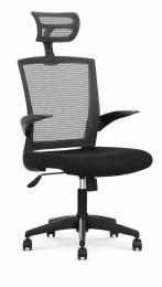stolička VALOR čierno-sivá