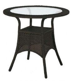 ratanový stôl BERLIN tmavohnedý