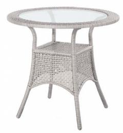 ratanový stůl BERLIN šedý