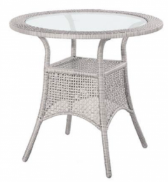 ratanový stůl BERLIN sivý