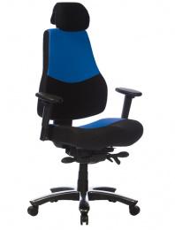 Kancelářská RANGER modro-černý pro 24hod. provoz