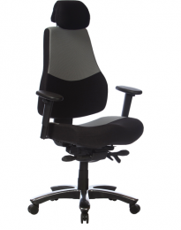 Kancelárska stolička RANGER šedo-čierna. pre 24hod. prevádzka