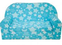 Dětská sedací rozkládací souprava hvězdička modrá