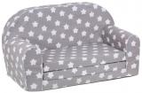 Dětská sedací rozkládací souprava hvězdička šedá
