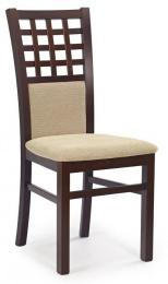 Jedálenská stolička GERARD 3 tm. orech/látka torrent béžová