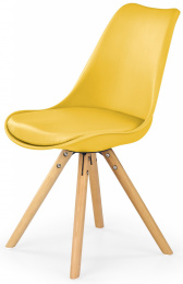 Jedálenská stolička K201 žltá