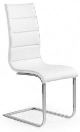 Jedálenská stolička K104 biela/biela eko koža