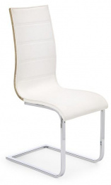Jedálenská stolička K104 dub sonoma/biela eko koža