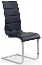 Jedálenská stolička K104 biela/čierna eko koža