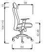 židle LEXA s podhlavníkem černá, sleva č. SEK1041 kancelárská stolička