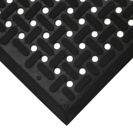 Černá gumová antibakteriální protiskluzová kuchyňská rohož