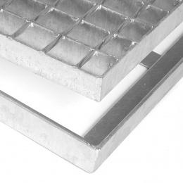 Kovová oceľová čistiaca vonkajšie vstupná rohož bez gumy s svorkami zo zváraných podlahových roštov Galva