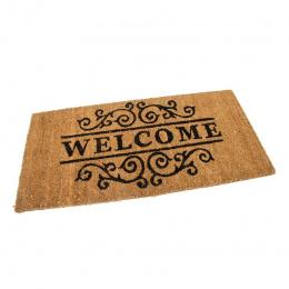 Kokosová vstupní venkovní čistící rohož Welcome - Deco