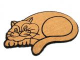 Kokosová čistící venkovní vstupní rohož Happy cat