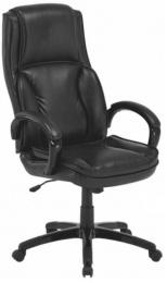 Kancelárská stolička, kůže / ekokůže černá, Lumír