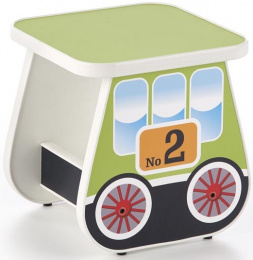 Dětský taburet LOKOMO zelený
