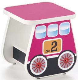 Dětský taburet LOKOMO růžový