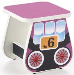 Dětský taburet LOKOMO fialový