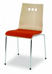 konferenční MIRKA chrom - čalouněný sedák