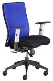 stolička LEXA bez podhlavníka,farba modrá