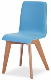 jedálenská stolička MIRKA podnož buk - celočalúnená