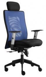 kancelářská LEXA s podhlavníkem, modrá