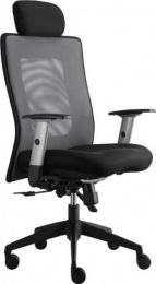 kancelárská stolička LEXA s podhlavníkom, antracit