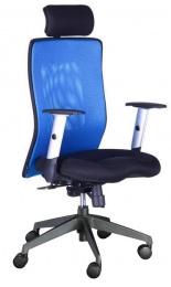 Židle LEXA XL+3D podhlavník,modrá