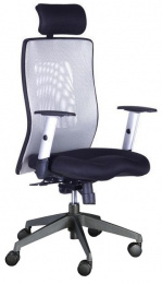 Židle LEXA XL+3D podhlavník,šedá