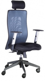 Stolička LEXA XL + 3D podhlavník,antracit
