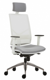kancelárska stolička 1850 SYN OMNIA ALU PDH WHITE